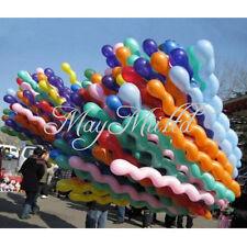 10 x Twist Spiral Latex Balloons Wedding Kids Birthday Party Decor Toy Gift Z4