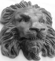 Collectible Lion Wildlife Sculpture Wall Art, Original Animal Art by Claybraven