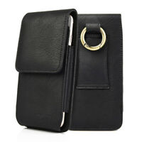 Samsung Galaxy S10+/10 S9+ S8 VERTICAL Leather Pouch Belt Clip Loop Holster Case