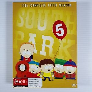 DVD - South Park - The Complete Fifth Season 5 / Series Five - FREE POST