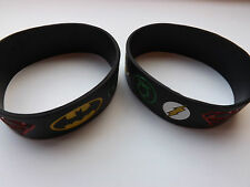 SUPER HERO Logos Silicone Bracelet WRISTBAND DC Comic
