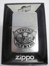 Vintage Retired Unstruck Zippo Lighter - Lynyrd Skynyrd Street 24568 Skull Bones