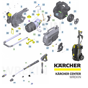 KARCHER HD 6/13 SPARE PARTS LIST PRESSURE WASHER REPAIR 1.520-954.0 COMMERCIAL