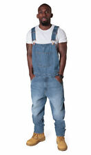 Stonewashed Regular Big & Tall Dungarees Jeans for Men