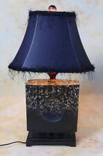 Tischlampe Lampe Stehleuchte Lederoptik Meditation Asiatika antik Look PQ006-b