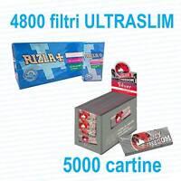 5000 Cartine ENJOY FREEDOM SILVER CORTE e 4800 Filtri RIZLA ULTRASLIM 5,7 mm