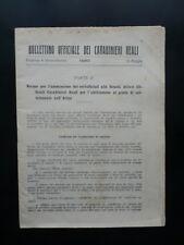 Bollettino Ufficiale dei Carabinieri Reali Dispensa 4° Straordinaria 15/5/1923