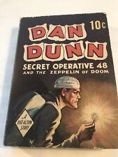 DAN DUNN Secret Operative 48 ZEPPELIN OF DOOM 1938 Dell 10¢ Paperback BLB
