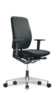 Drehstuhl GLOBeline mit Armlehnen Schwarz Bürostuhl Chefsessel Bürosessel