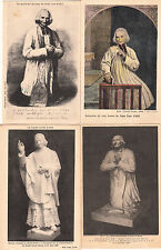 Lot 4 cartes postales anciennes ARS statue portrait du curé 8