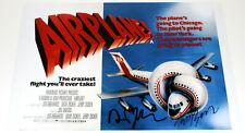 DIRECTOR DAVID & JERRY ZUCKER SIGNED 'AIRPLANE!' 12x18 MOVIE POSTER w/COA PROOF