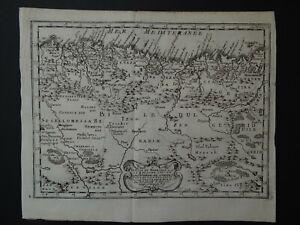 1656 SANSON Atlas map  BARBARY - ALGERIA - Barbarie Alger - Africa Afrique
