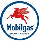 MOBILGAS AND OIL ROUND TIN SIGN RUSTIC METAL GAS STATION WALL ART MOBIL GLOBE