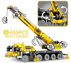 Engineering Crane Technic Building Blocks City Construction vehicle car Toy kids
