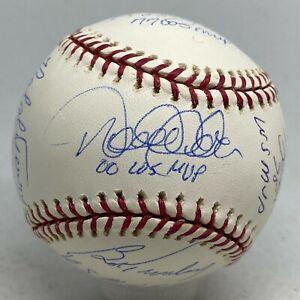 Yankees World Series MVPs 10x Signed Baseball Derek Jeter Rivera Ford + STEINER