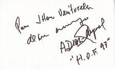 Antonio Diaz Miguel Autographed 3x5 index card autograph auto Hall of Fame HOF