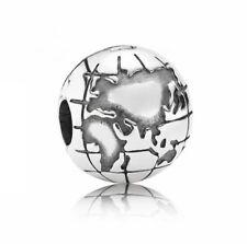 Pandora Element Bead Stopper Charm 791182 Globus Clip 925er Silber Neu Sale OVP