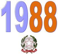 ITALIA Repubblica 1988 Singolo Annata Completa integri MNH ** Tutte le emissioni