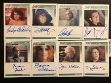 Star Trek Tng Series 2 8 autographed card lot Sci-fi Hobby 2010 Rittenhouse
