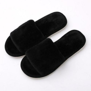 Ladies Slippers Warm and Fluffy Casual Non-Slip Flat Shoes Comfort Cute Winter