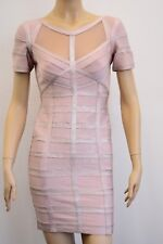 Fashion Forward Designer Mauve/Pink Bodycon Cocktail Dress Size Large On Sale