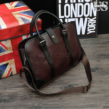Men's Leather PU Business Handbag Satchel Shoulder Messenger Bag Bag Briefcase