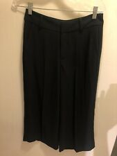 Madewell Black Culotte Cropped Pants Size 2 XS
