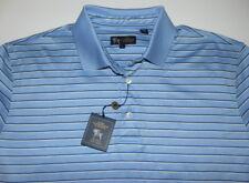 Hart Schaffner & Marx Light Blue Short Sleeve Polo Shirt Men's Size Large NWT