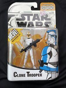 Hasbro Star Wars Clone Wars Yellow Clone Trooper Figure Cartoon Network 2005