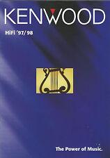 KENWOOD Catalogo Prospetto' 97/98 kr-x1000 km-x1000 kr-v999d ka-7090r kt-3080