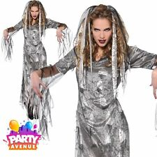 Womens Graveyard Zombie Halloween Costume Fancy Dress Outfit Adult