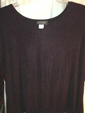 Reduced now to move! BRIGGS NEW YORK  Women's Black w/Red Dots Short Sleeve 3X