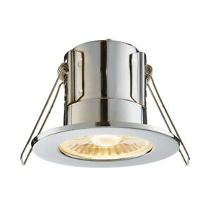Saxby ShieldECO Fire Rated 4W 500 Lumens LED Dimmable Bathroom Downlight IP65