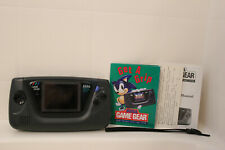 Working Sega Game Gear Video Game Console System WIth owners manual and inserts