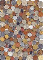 World Coin lot 100+ mixed coins w/ bimetallic +  A.U.+/Unc coins