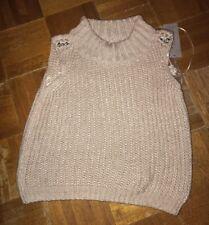 Women's Jennifer Lopez Cropped Sleeveless Turtleneck Sweater Size XS Retails $60