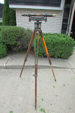 Antique W & L.E. Gurley Surveyors Transit w/ Tripod & Box - DETROIT EDISON CO