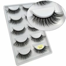 10Pairs Wholesale Handmade Real Mink 3D False Eyelashes Cross Thick Long Lashes