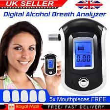 Digital LCD Police Breathalyzer Breath Test Alcohol Analyzer Detector Tester UK