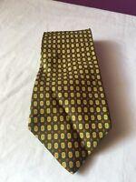 "The Custom Shop Shirtmakers Foulard Silk Tie Green Width 4"""