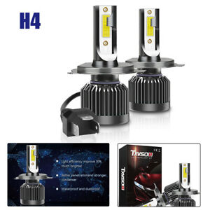2X H4 White COB LED Chip Car Headlight 20000LM Conversion Bright Bulb 6000K Kits