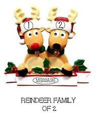Personalised Family Christmas Tree Xmas Decoration Ornament  Reindeer family 2-8