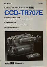 Gebruiksaanwijzing Bruksanvisning Instruzioni per I'uso SONY Hi8 CCD-TR707E