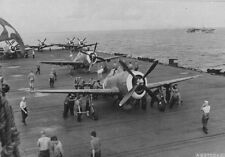 WWII Photo P-47 Thunderbolts on Carrier  WW2 / 7025