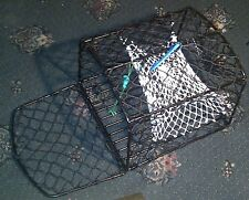 2 X SINGLE ENTRANCE LOBSTER CRAB POT - IDEAL FOR KAYAK, DINGHY OR SMALL BOAT