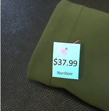 Unstrung price tags, thermal transfer perforated tags on roll of 2,930, 9 colors