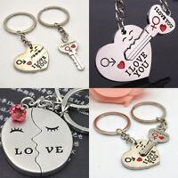 Cupid Arrow Heart I LOVE YOU Couple Keychain Lovers Keyring Keyfob Present Gift