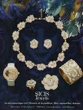 Publicité Advertising 2012 SICIS Jewels joaillier bague collier collection