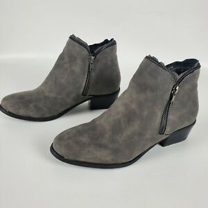 Womens Soho Girls Kent 1 gray zipper booties ankle boots size 7