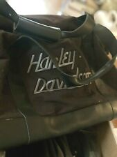 Harley Davidson Thick Canvas Gray Duffle Bag Gym Gear Luggage Carry On